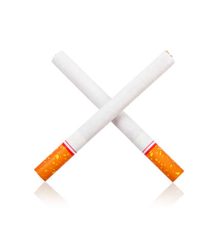 Cigarette isolated white background, Save clipping path.