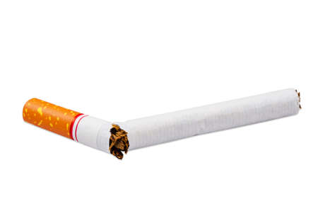 Cigarette isolated white background.