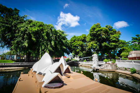 replica: PATTAYA, THAILAND - JAN 03, 2017: - The Opera House in Mini Siam Park. Mini Siam is a famous miniature park attraction. It had been constructed in 1986 Editorial