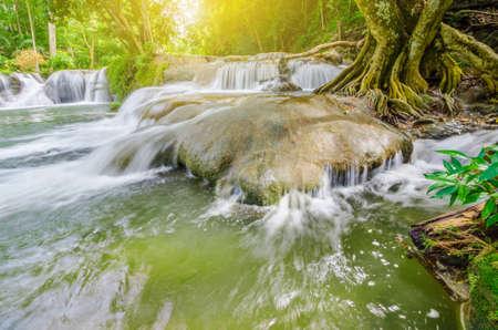 Chet Sao Noi waterfall in Khao Yai National Park, Saraburi province, Thailand. Stock Photo