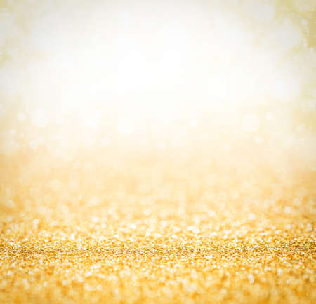 Abstract the gold light for holidays background Stock Photo