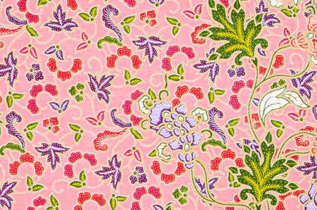 Close up texture of the beautiful of art Thai Batik Pattern. 免版税图像