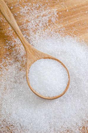 Monosodium glutamate (MSG), a flavor enhancer in many asian food. Stock Photo