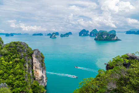 Koh Hong island view point to Beautiful scenery view 360 degree at Krabi province, Thailand.