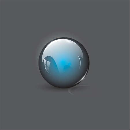 Perfect glass orb Ilustração
