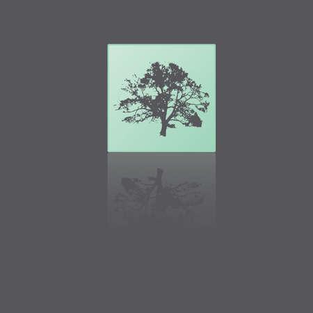 reflective: Reflective tree Illustration