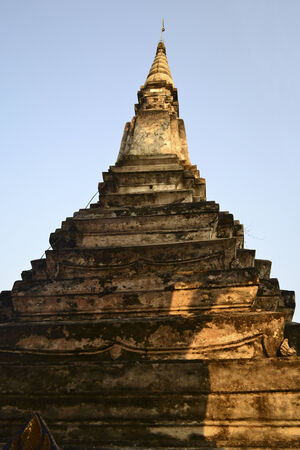 Ancient Pagoda in Temple Thailand photo