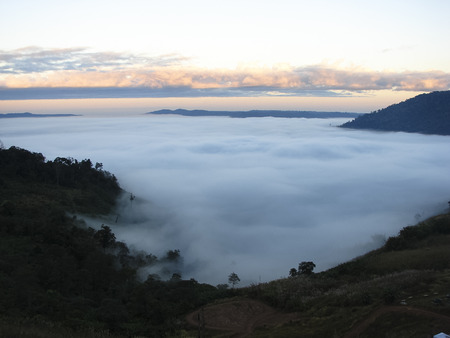 The sea fog at Khao Chamao District of Phetchabun province  photo