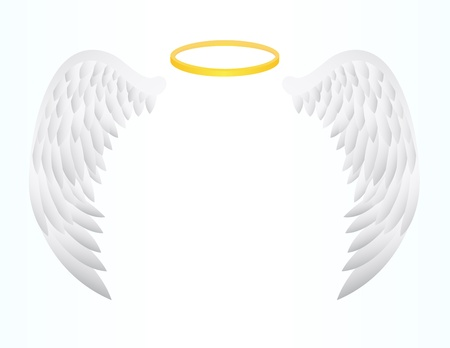 gothic angel: vector illustration of Angel Wing Illustration