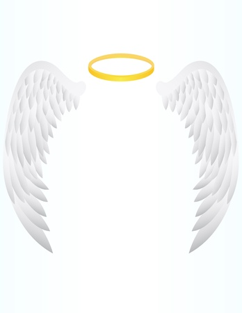 vector illustration of Angel Wing Illustration