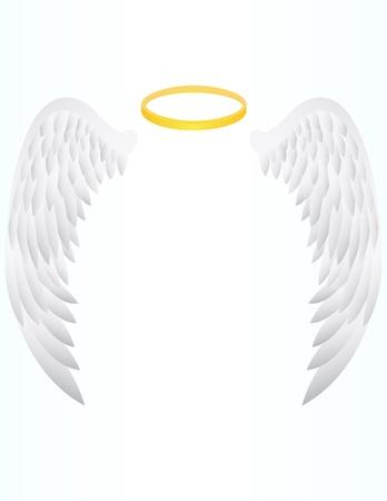 vector illustration of Angel Wing Illustration