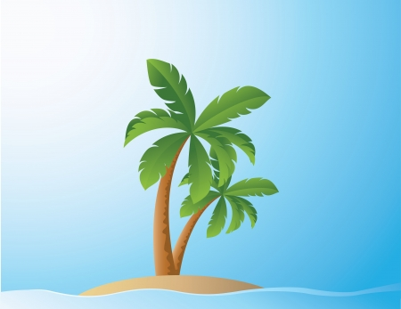 vector illustration of Tropical Beach  Vector