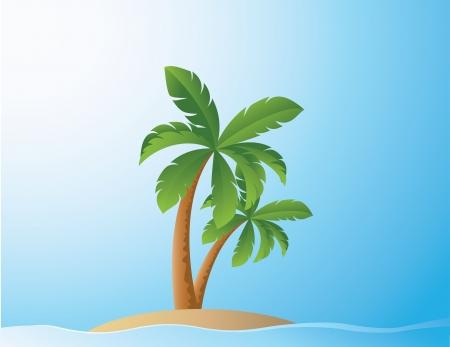 vector illustration of Tropical Beach