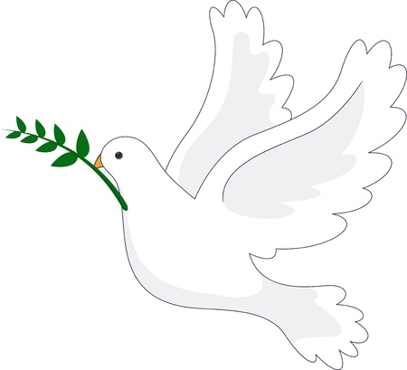 vector illustration of Dove Peace