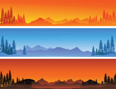 vector illustration of winter banner background  Illustration