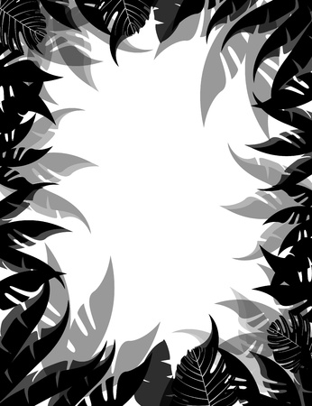 vector illustration of Tropical Leaf Background Vector