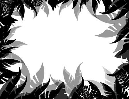 vector illustration of Tropical Leaf Background Stock Vector - 14805761