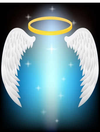 gothic angel: vector illustration of Angel Wings