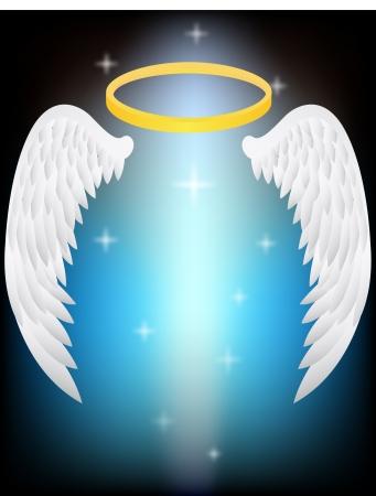 engel tattoo: Vektor-Illustration von Angel Wings
