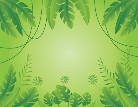 Vector Illustration of Tropical Leaf Background