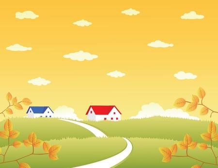Vector Illustration of Landscape
