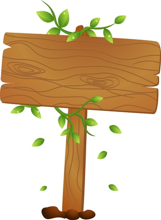 Vector Illustration Of Wooden signs Vector