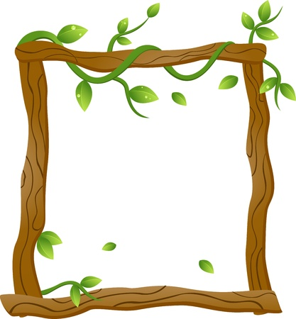 Vector Illustration Of Natural Frame