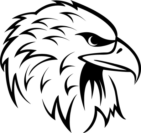 eagle feather: Vector Illustration Of Eagle Head tattoo