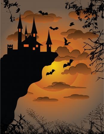 жуткий: Векторные иллюстрации Scary фоне