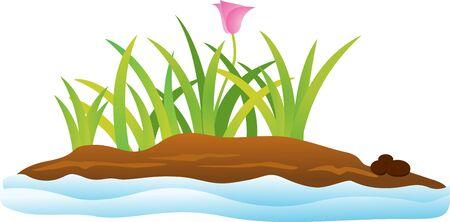 island isolated: vector illustration of Tropical island Illustration
