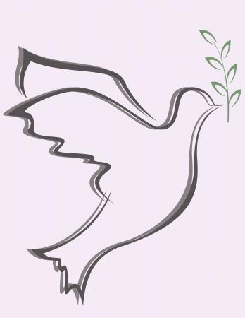 paloma de la paz: ilustración vectorial de la paloma de la paz