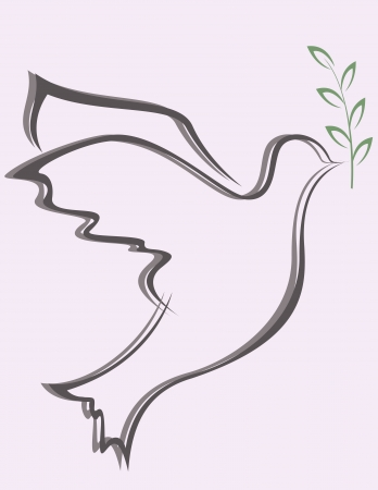vector illustration of Dove Peace Stock Vector - 14805675