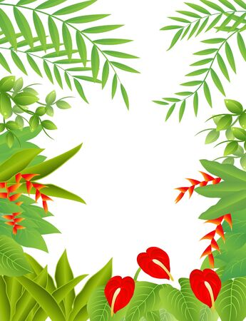 Vector Illustration Of tropical Forest Background Stock Vector - 14805630