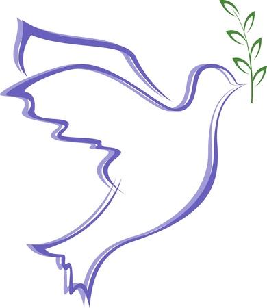 simbolos religiosos: ilustraci�n vectorial de la paloma de la paz