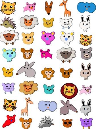 schattige dieren cartoon: Vector Illustratie van leuke dieren Cartoon collectie Stock Illustratie