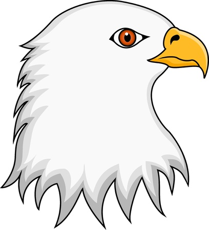 Vector Illustration Of Eagle Head Vector