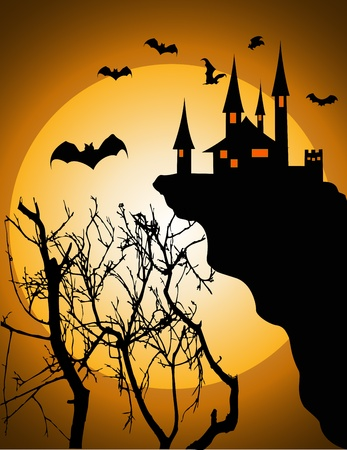 Vector Illustration Of halloween invitation or background