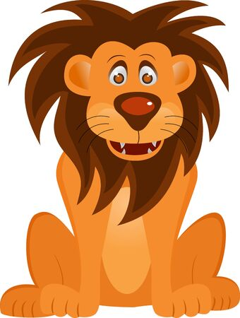 Vector Illustration Of Funny Lion Cartoon Stock Vector - 14805616