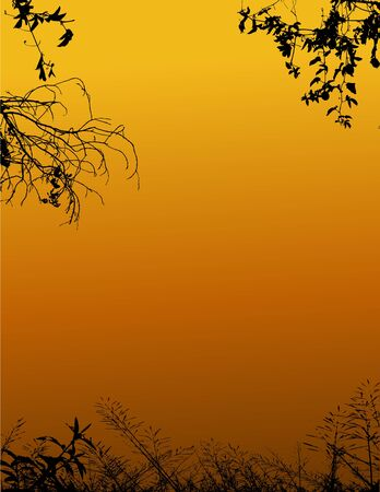 Vector Illustration Of Nature silhouette