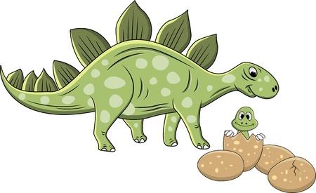 Illustration Of Stegosaurus cartoon