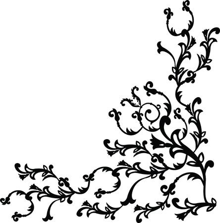 Vector illustration of floral design element