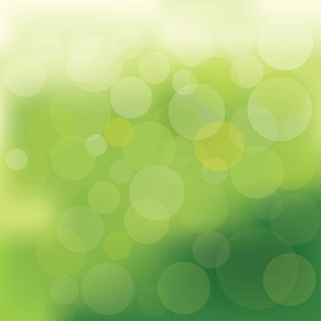 vector illustration of green bokeh abstract light background