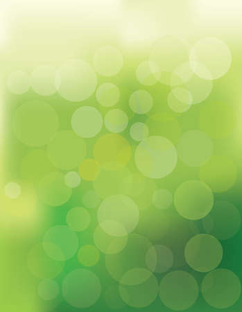 vector illustration of green bokeh abstract light background