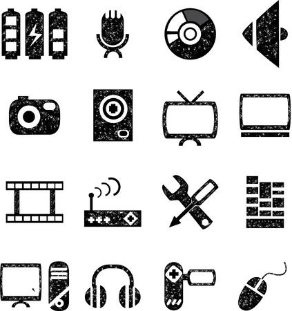music and audio  icon set