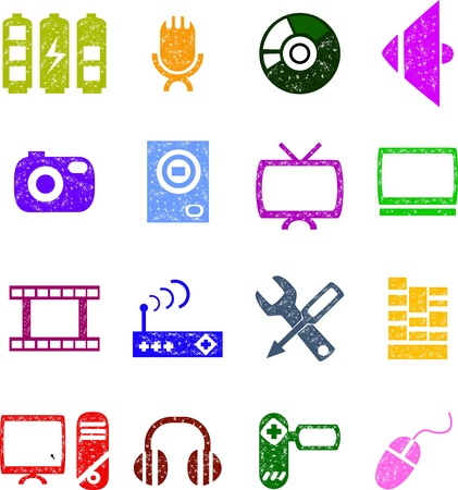 music and audio icon set