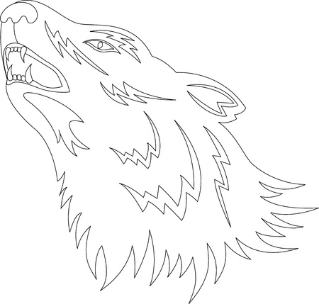 Wolf Tattoo Vector