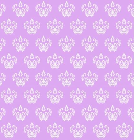 purple colored vintage seamless pattern