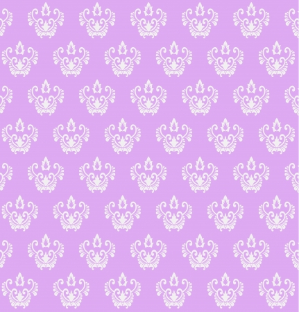 purple colored vintage seamless pattern  Vector