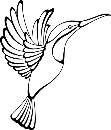 hummingbird tattoo Vector