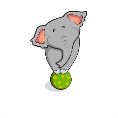 illustration of elephant share vektor